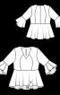 Блуза відрізна з воланами на рукавах - фото 3