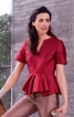 Блуза з баскою різної довжини - фото 1