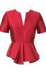 Блуза з баскою різної довжини - фото 2