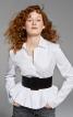 Блузка з баскою і сорочковим коміром - фото 1