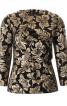 Блуза з рельєфними швами і баскою - фото 2