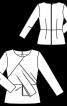 Блуза з рельєфними швами і баскою - фото 3