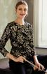 Блуза з рельєфними швами і баскою - фото 1