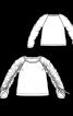 Пуловер А-силуету з рукавами реглан - фото 3