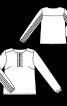 Блузка прямого крою з рюшами і оборками - фото 3