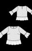 Блуза мереживна з оборками - фото 3