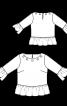 Блуза просторого крою з оборками - фото 3