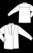 Блуза оригинального кроя с пластроном - фото 3