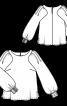 Блузка з фігурними проймами - фото 3
