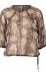 Блуза округлого силуету з рукавами 3/4  - фото 2