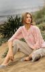 Блуза просторого крою з круглою горловиною - фото 1