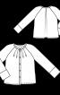 Блуза розкльошеного силуету з рукавами реглан - фото 3