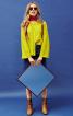 Блуза розкльошеного силуету з рукавами реглан - фото 1