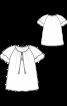 Блузка з двошаровими рукавами реглан - фото 3