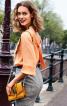 Блузка з рукавами реглан і декольте на спинці - фото 1