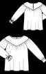Блуза з фігурною кокеткою і широкими рукавами - фото 3