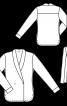 Блуза із запахом і шалевим коміром - фото 3