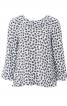 Блуза А-силуету з рукавами-реглан - фото 2