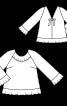 Блуза А-силуету з рукавами-реглан - фото 3