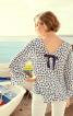 Блуза А-силуету з рукавами-реглан - фото 1