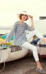 Блуза А-силуету з рукавами-реглан - фото 4