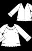 Блуза А-силуету з воланами - фото 3