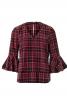 Блузка прямого крою з воланами на рукавах - фото 2
