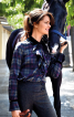 Блузка прямого крою з воланом-жабо - фото 1