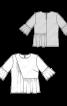 Блузка з оборками і асиметричною деталлю - фото 3