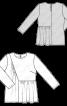 Блузка з оборкою і асиметричною деталлю - фото 3