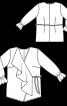 Блуза з запахом і широким воланом - фото 3