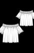 Блуза простора з відкритими плечима - фото 3
