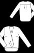 Блуза з ефектом запаху і видовженою спинкою - фото 3
