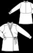 Блуза відрізна із запахом і оборками - фото 3