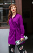 Блуза відрізна із запахом і оборками - фото 1
