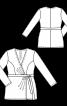 Блуза трикотажна з ефектом запаху - фото 3