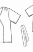 Трикотажна блуза з розрізами на рукавах - фото 3