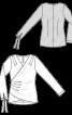 Блузка шовкова із запахом та драпіровками - фото 3