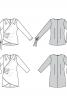 Блузка шовкова із запахом та драпіровками - фото 6