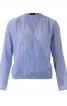 Блуза з запахом і зборками на плечах - фото 2