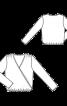 Блуза з запахом і зборками на плечах - фото 3