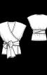 Блузка з приспущеними проймами - фото 3