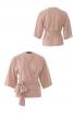 Блузка трикотажна з приспущеними проймами - фото 2