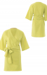 Сукня міні з запахом і широким поясом - фото 2
