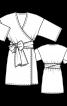 Сукня міні з запахом і широким поясом - фото 3