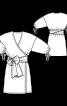 Сукня міні з запахом і пишними рукавами - фото 3