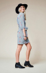 Сукня міні з запахом і пишними рукавами - фото 1