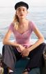 Блузка з баскою і ефектом корсажа - фото 1