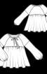 Туніка широкого крою з пишними рукавами - фото 3