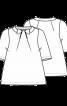 Блузка з оригінальними складками біля горловини - фото 3